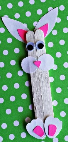 Bunny Popsicle Stick Craft | AllFreeKidsCrafts.com