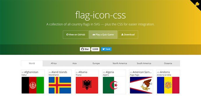All Country Flags Icons Collection In SVG and CSS Free. #icons #svg #css3 #flags