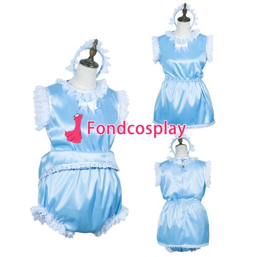 Sissy maid satin Romper lockable Uniform cosplay costume Tailor-made[G3768] #Affiliate