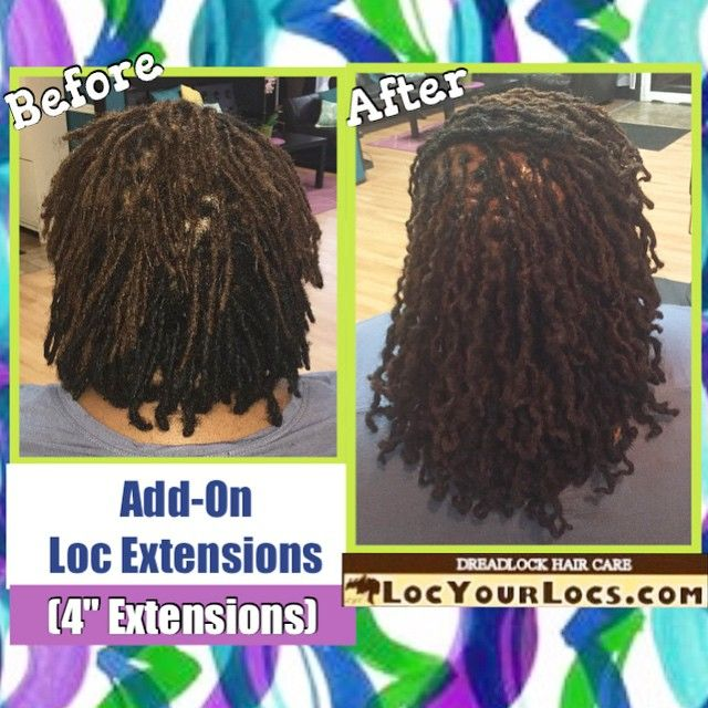 Existing loc extensions of 4 inches. Takes 8-12 hrs to install. Beautiful result