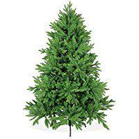 La nostra categoria Lusso! Il piacere dell'albero perfetto! Abete di prima qualità 180 cm, categoria Premium, stampato a iniezione in PE, colore verde (con rami lunghi 18-22 cm - l'albero ha circa 842 rami (3670 punte); facile da montare e sm...