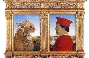 17 obras de arte clásicas mejoradas por un gato gordo pelirrojo