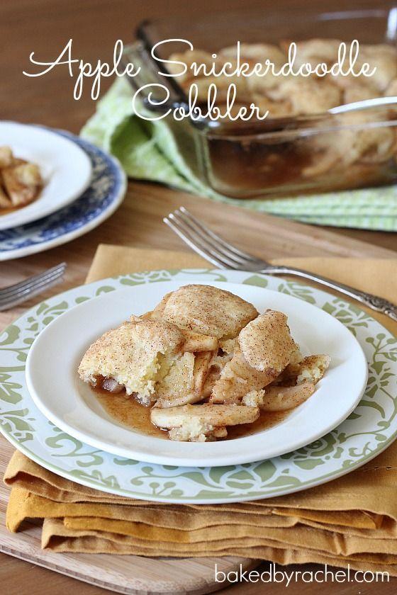 Apple Snickerdoodle Cobbler Recipe from bakedbyrachel.com