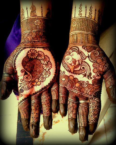 Bridal henna or mehndi. #IndianBridalFashion