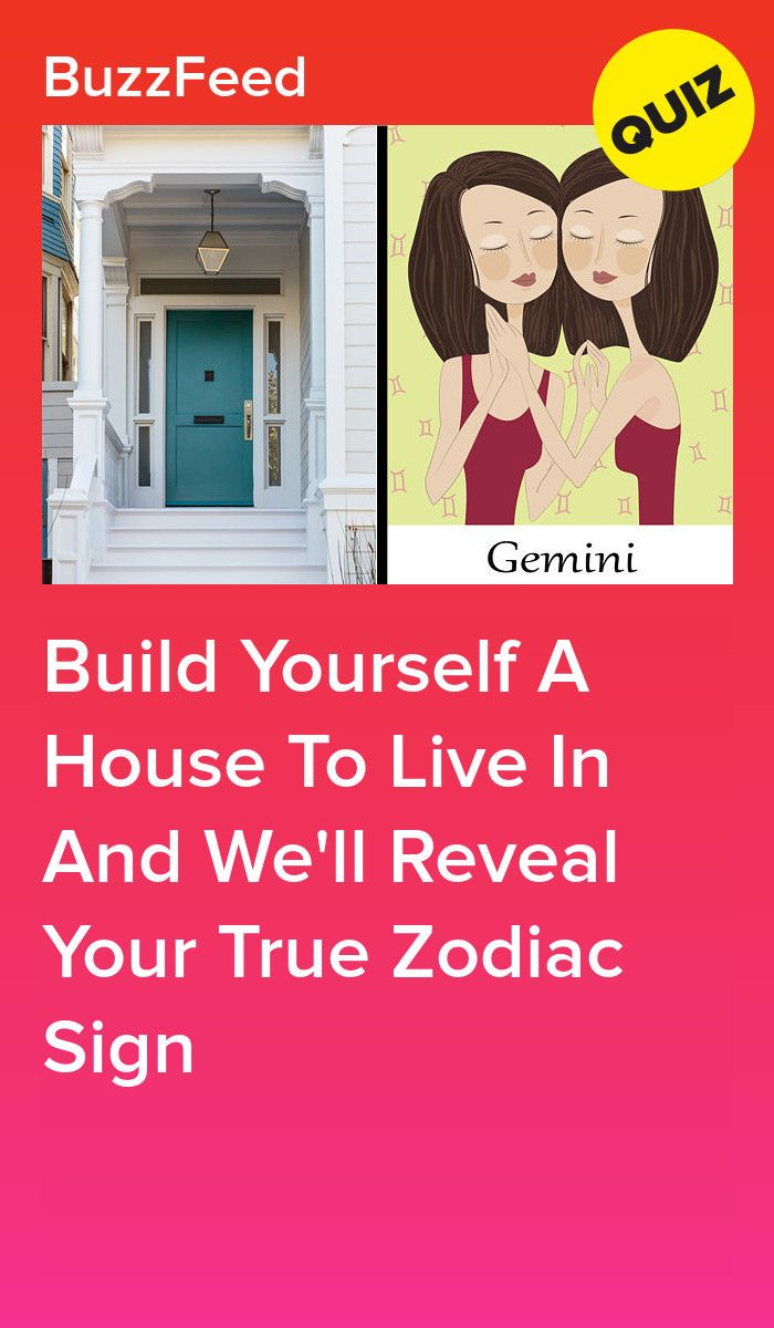 Build A House And We'll Reveal Your True Zodiac Sign | YouTube