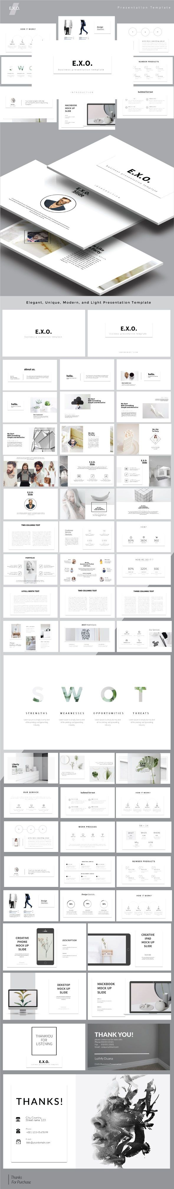 E.x.o. Multipurpose Powerpoint Template - Business PowerPoint Templates