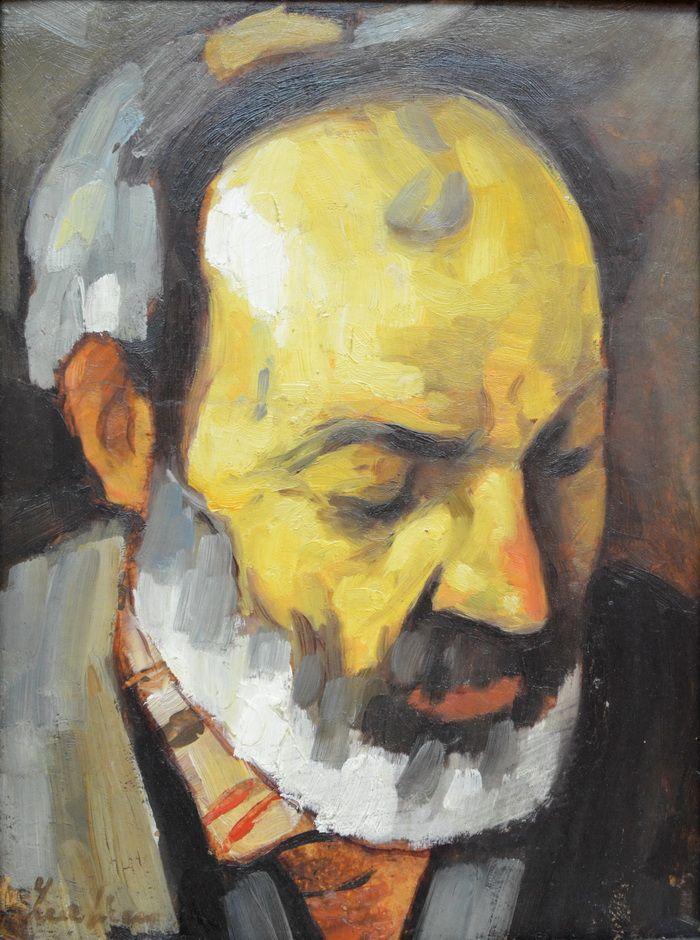 Stefan Luchian - Mos Nicolae cobzarul (ulei pe carton)