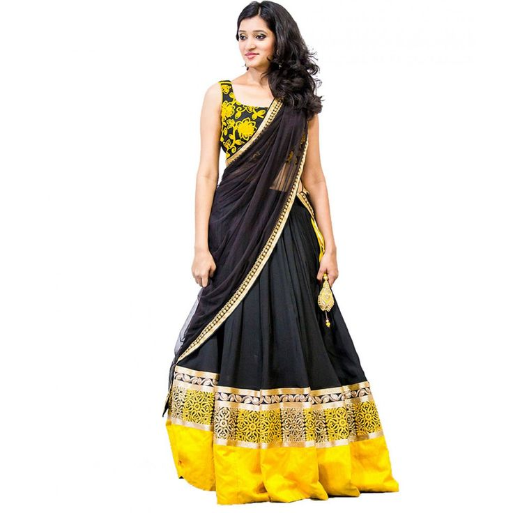 Fashionx yellow satin lehenga choli