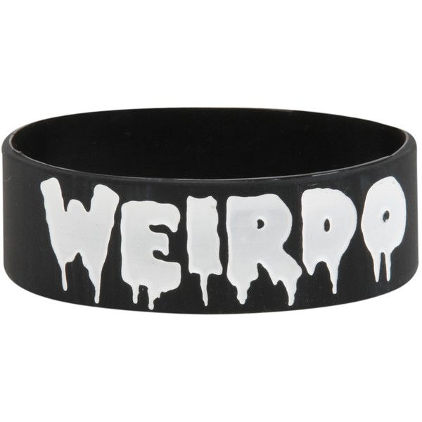 Weirdo Rubber Bracelet | Hot Topic and other apparel, accessories and trends. Browse and shop 8 related looks.