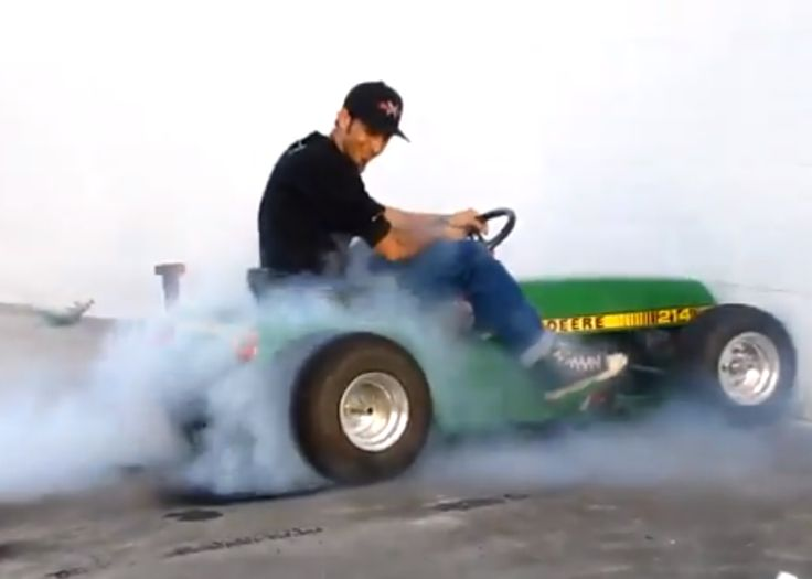 Insane! Watch The Worlds Fastest Lawnmower Do A Burnout Of Epic Proportions! Click to view.