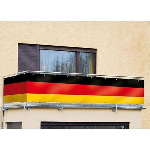 Deutschland Fahne / Sichtschutz für Balkon/Terrasse/Gartenzaun, 84x500cm, WoW