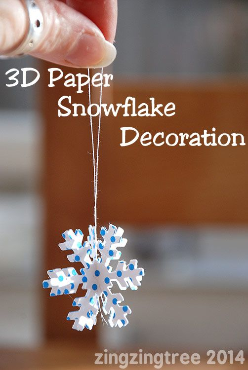 3D Paper Snowflake Decoration