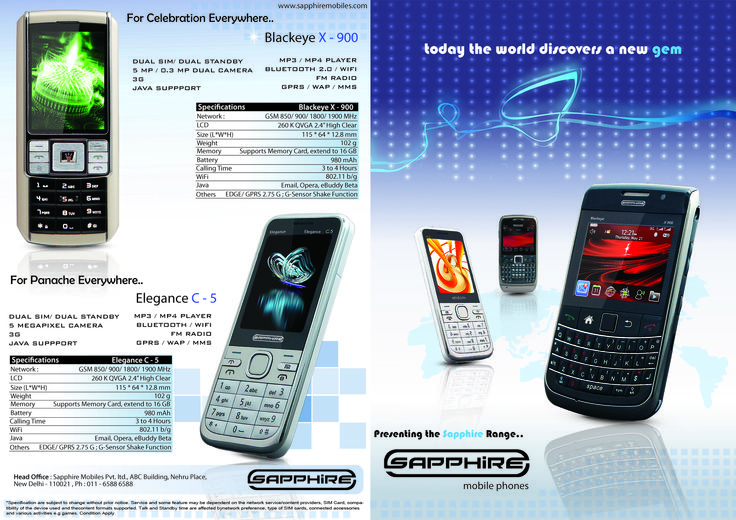 Brand Identity - Sapphire Mobiles  Outer Pages