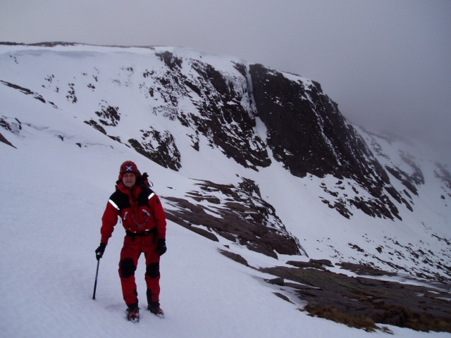 Relief after a close escape from a cornice collapse triggered avalanche on Hell's Lum Crag, Cairngorms, Scotland. Learn the top ten mistakes amateur rescuers make in recovering an avalanche victim by reading our blog