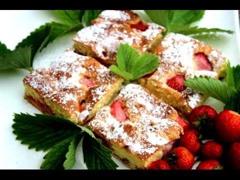 ▶ Brzi kolač sa jagodama - Video - Strawberry Cake Recipe - YouTube