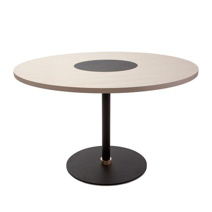 Signum+Ruokapöytä+75xØ100cm,+Musta,+Klong
