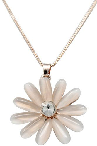c3781e921 Indian Petals European Western Style Big Floral Rhinestone Design Fashion  Jewellery Pendent Necklace with long Chain for Ladies Women Girls  #IndianPetals ...