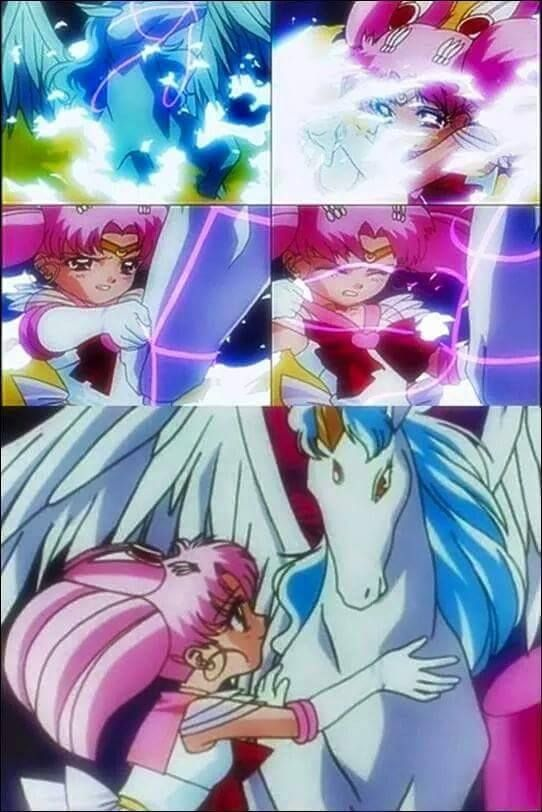 Chibiusa and Helios from Sailor Moon Season 4 (Sailor Moon SuperS )