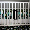 Homemade crib bumper.  Wish I had this tutorial with the rest of my kids.