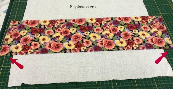Corte a altura que desejar do tecido que vai utilizar.Eu costumo fazer o barrado com 18 cm de altura.Quanto à largura,é de acordo com seu pano de prato,deixando uma sobra de mais ou menos 5 cm.    Read more: http://wwwpinguinhodearte.blogspot.com/2012/11/como-fazer-barrado-em-pano-de-prato.html#ixzz2NHugfNJ4