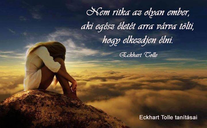 Eckhart Tolle idézete az életről. A kép forrása: Eckhart Tolle tanításai