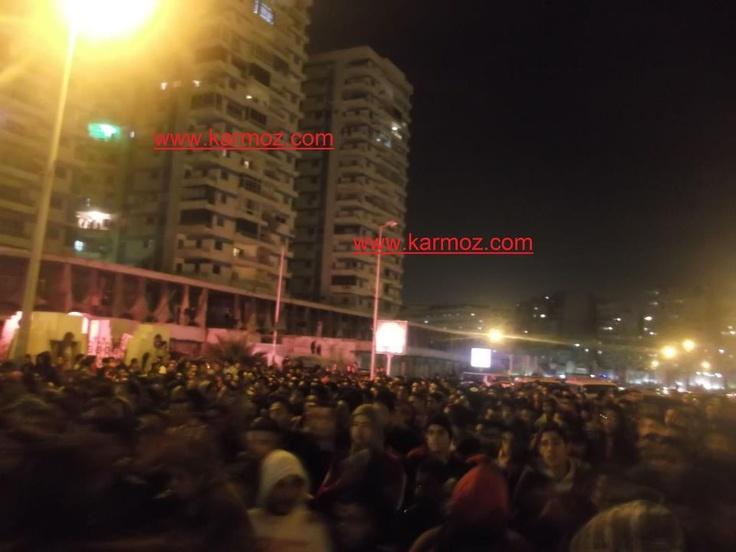 جانب من مسيرة أولتراس أهلاوي على الكورنيش، وهتافات معادية للداخلية