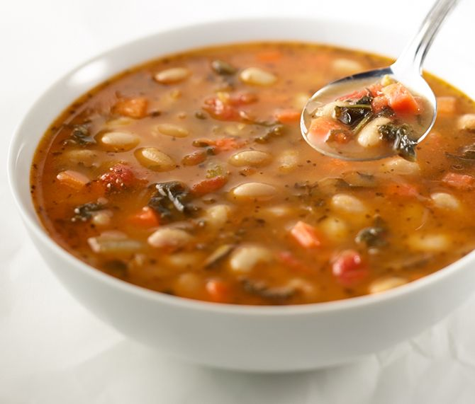 NEW Tuscan White Bean Soup - at Corner Bakery Cafe.