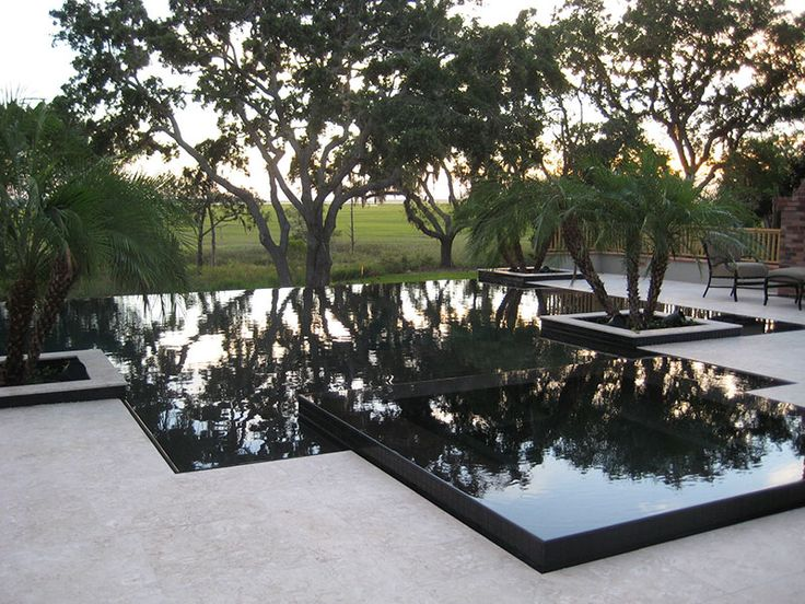 This project combines the lautner knife edge perimeter for Garden pond overflow design