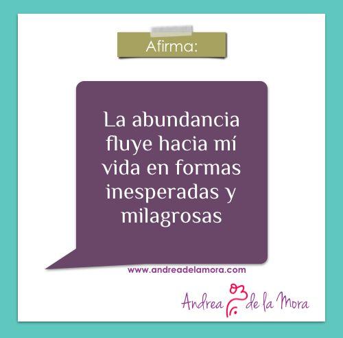 ¡Soy abundancia! – Andrea de la Mora