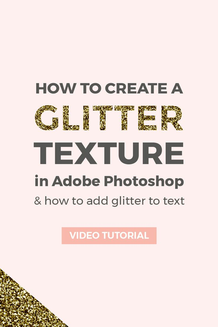 Learn how to make a glitter texture using Adobe Photoshop and how to add glitter to text.