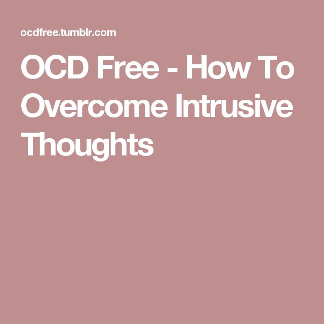 OCD Free - How To Overcome Intrusive Thoughts