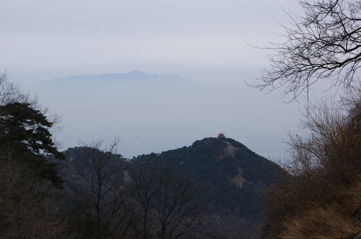 "View from Tai Shan in Tai'an, China. One of the ""Five Sacred Mountains,""  it associated with sunrise, birth, and renewal."