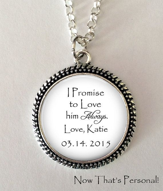 Daughter Of The Groom Gift From Bride I Promise To Love You And Your Dad Always By Nowthatspersonal