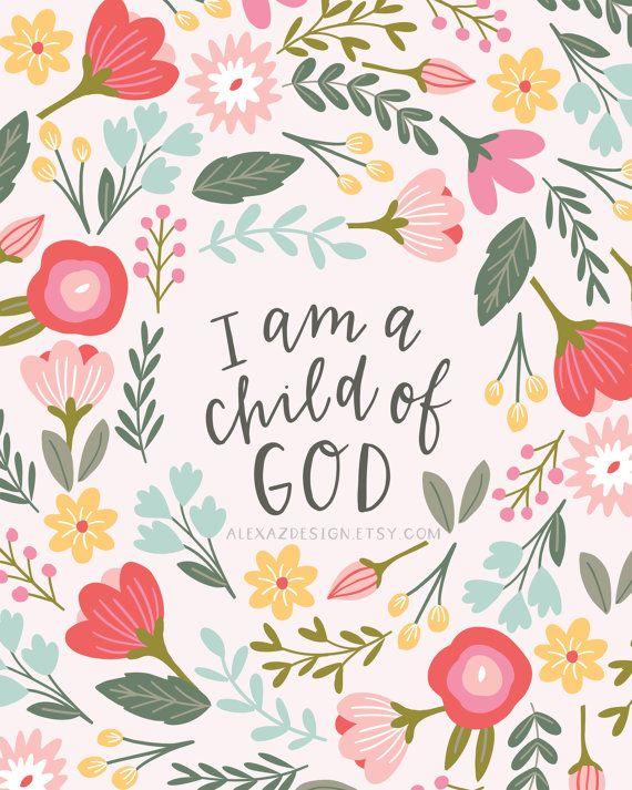 I am a Child of God Printable - Mayble's Print - Fundraiser