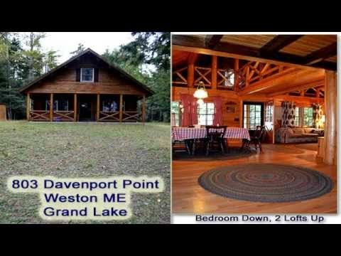 Maine Real Estate | Waterfront, East Grand Lake Log Home MOOERS 8378