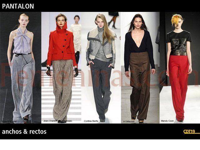 Pantalones anchos y rectos con formas regulares siempre marcan a la mujer intelectual que lo luce