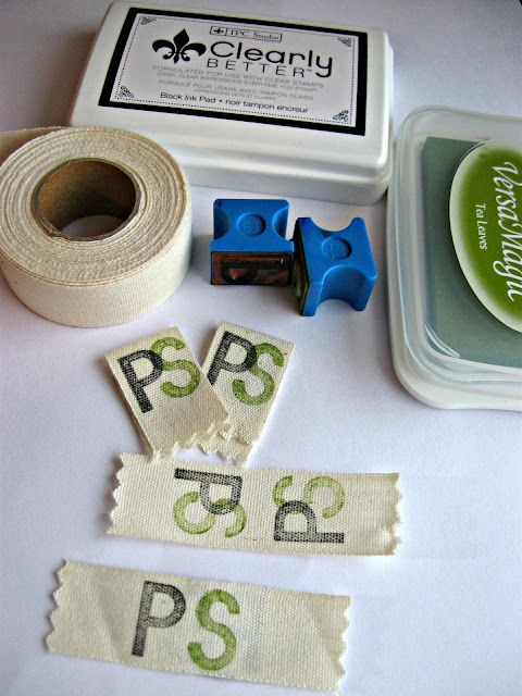 Create your own labels for gifts that you sew or craft. Use ALL cotton twill tape, wider is better, and permanent ink, let dry and heat set with an iron. Cover with some scrap fabric or paper first to prevent transferring ink to your iron plate.