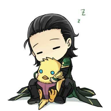 Cute baby Loki. ~ Looks like his has Hawkeye held captive!!