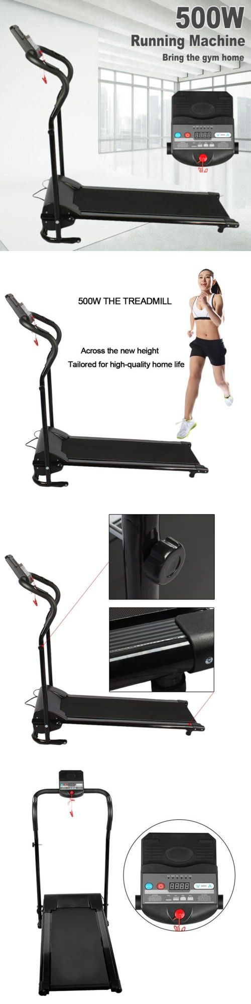 Treadmills 15280: 500W Foldable Adult Electric Treadmill Motorized Running Machine Jogging Sports -> BUY IT NOW ONLY: $164.95 on eBay!