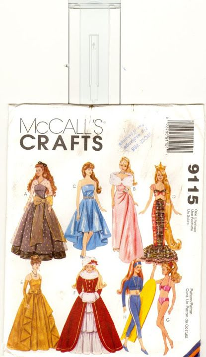 Free Copy of Pattern - McCalls 9115 | Barbie | Pinterest | Patterns, Crafts and Lost