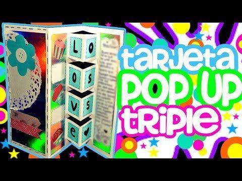 TARJETA POP UP TRIPLE//TARJETAS PARA NOVIO - YouTube