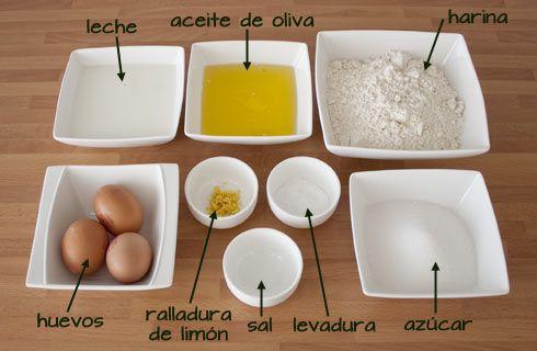 Ingredientes para hacer magdalenas caseras y esponjosas
