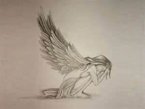 Free Designs  Sad Angel Tattoo Wallpaper