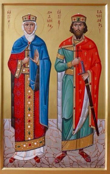 St. Ludmilla & St. Vaclav of Czechia.