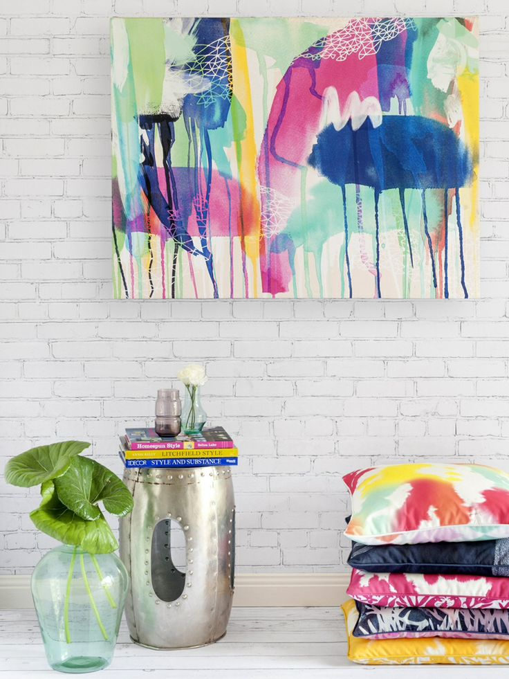 Aqua Nova canvas artwork from Urban Road online $265 76cm x 101cm / 2-4 weeks