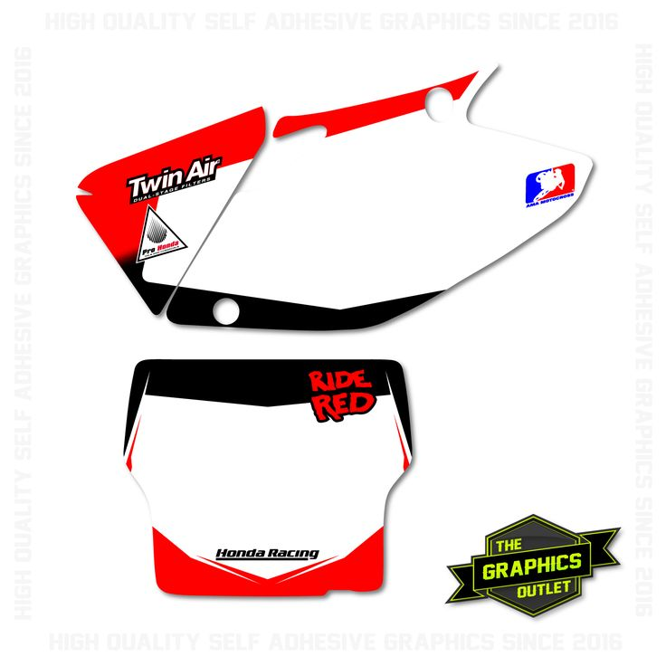 HONDA CRF450 2004 - RIDE RED FACTORY STYLE REPLICA - MOTOCROSS BACKGROUNDS - RED & BLACK VERSION