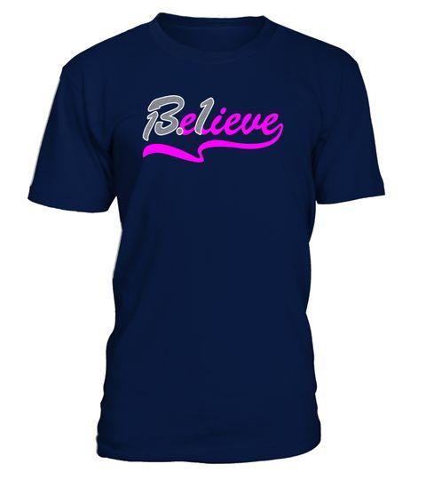 Women's Believe 13.1 Half Marathon Training Running T-Shirt