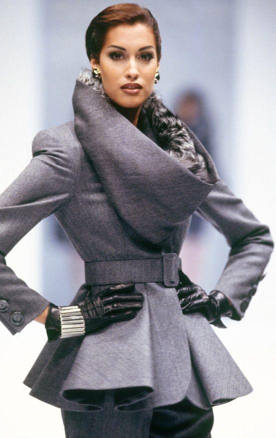 gray coat...