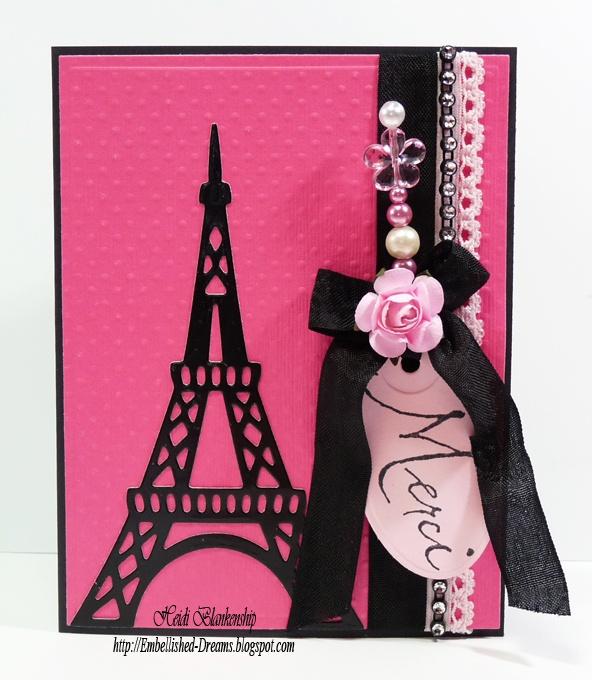 Embellished Dreams: Merci Paris Card