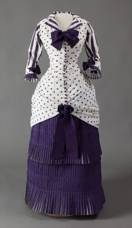 """The dress that Madame Bartholomé wore for the sitting of Dans la serre (1881) by Albert Bartholomé.  See painting on the """"Before There Were Cameras"""" board."""